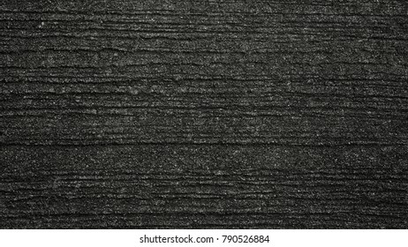 Texture of concrete floor in at car park. Surface grooved horizontal pattern, Rough and rugged on street, Grey color, Wallpaper background
