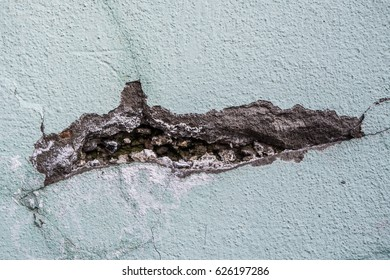 Texture of a concrete wall with a crack