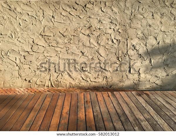 Texture concrete, wood, bricks