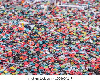 Texture confetti in the carnival parade