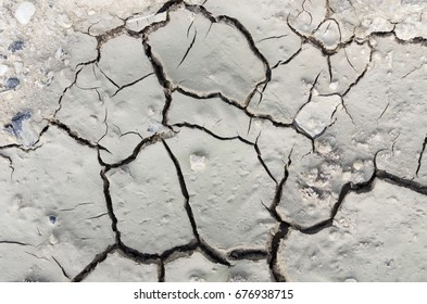 Texture of cracked  clay soil closeup.Can be used to do background image to decorate.