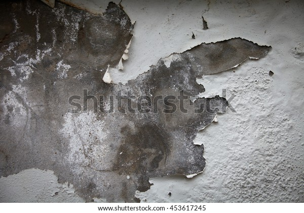 Texture damaged plaster concrete background wall.