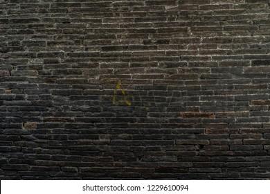 Texture of a dark brick wall