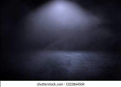 Texture dark concentrate floor with mist or fog