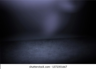 Texture dark concentrate floor with mist or fog          - Image