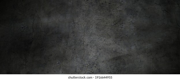 Texture of dark gray concrete wall, Texture of a grungy black concrete wall as background