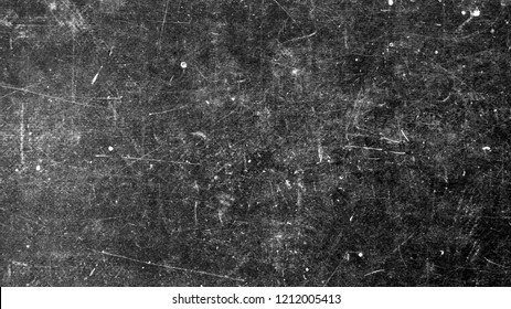 Texture of dark vintage surface with white scratches
