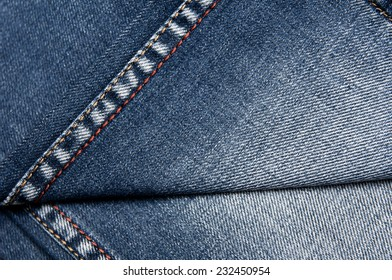 The texture of denim with pleats