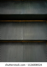 Texture and detail of escalator step