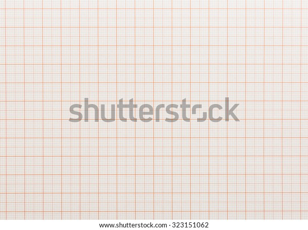 Texture Drafting Paper Sheet Orange Lines Stock Photo (Edit