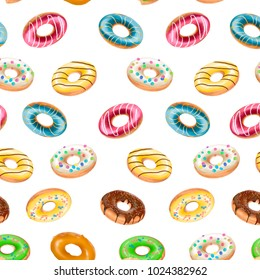 Texture of drawn donuts