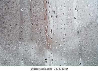 Texture of a drop of rain on a glass
