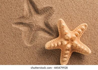 texture of dry sea sand