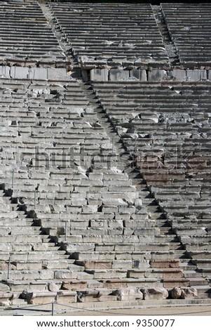 texture effect seats ancient greek theatre stock photo edit now