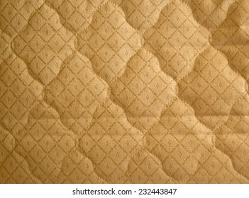 The texture of fabric stitched with thread pattern