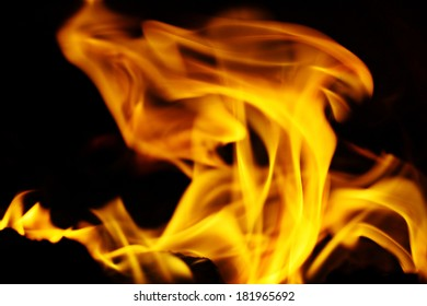 texture of fire on a black background flash