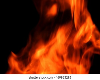 The texture of a flame of fire on a black background