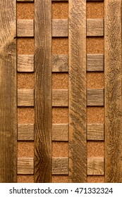 The texture in the form of squares of wooden planks.