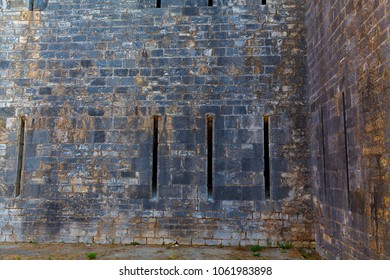 texture of fortress walls of the castle