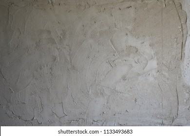 Texture of fresh concrete wall on construction site