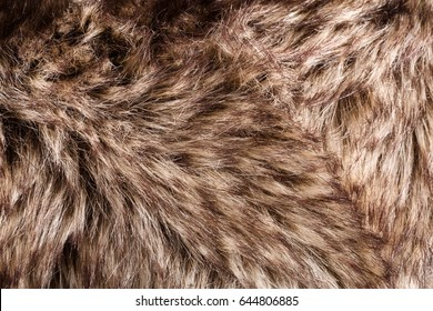 texture of fur. Red Brown Grey Wolf, Fox, Bear Fur Natural, Animal Wildlife Concept and Style for Background, textures and wallpaper. Macro Brown fur
