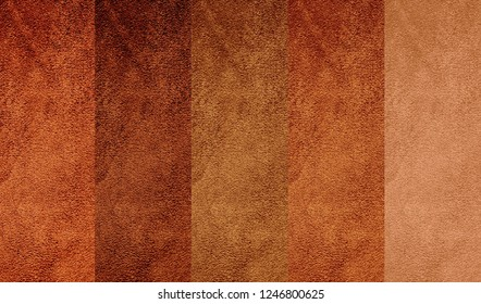 Texture of genuine suede leather in different colors
