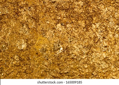 Texture of the gold leaf