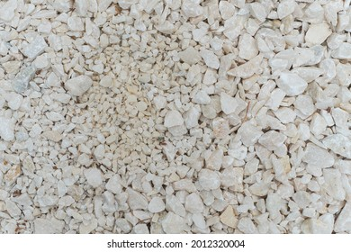 The texture of a granite placer