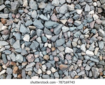 texture of the gravel railway embankment