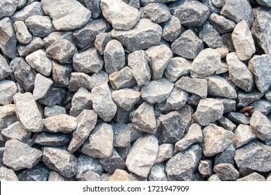 texture of gravel stones on ground. Gravel or pebbles in garden.