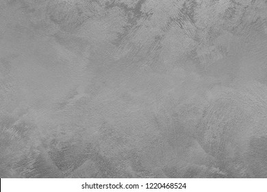 Texture of gray decorative plaster or concrete. Abstract background for design. Monochrome.