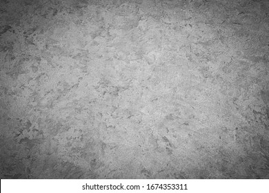 Texture of gray monochrome decorative plaster or stucco. Abstract background for design. Art stylized banner with copy space for text.