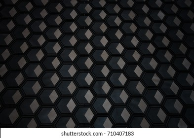 The texture of grayscale cell similar to honeycomb