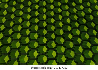 The texture of green cell similar to honeycomb
