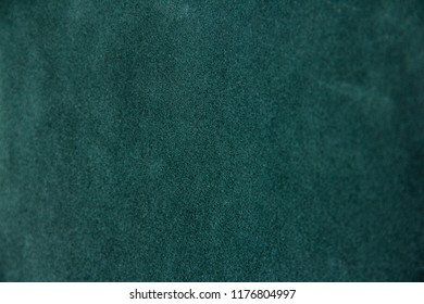 Texture of green suede
