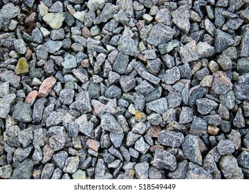 Texture of the grey gravel as a background