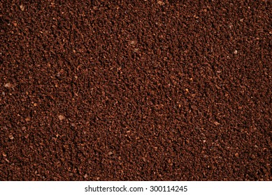 The texture of the ground coffee .