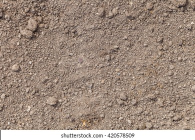 The texture of the ground. The structure of the soil close-up. Dig the earth for planting