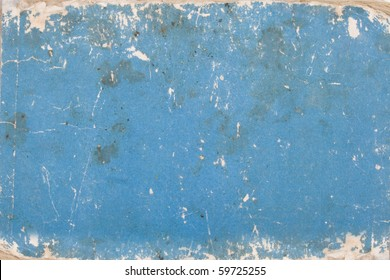 texture, grunge, blue cardboard with age marks
