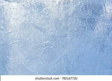 The texture of the ice