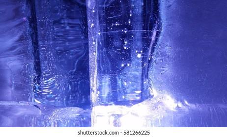 texture of ice sculptures