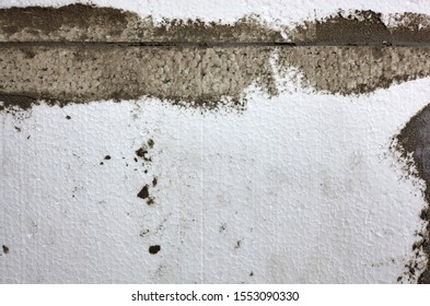 Texture of a insulated wall plastered styrofoam insulation which can be used as a background