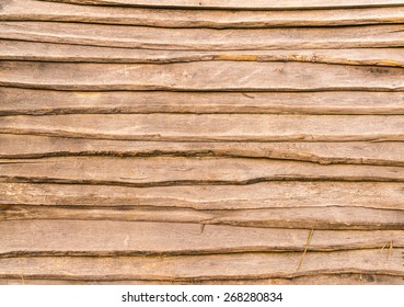 Texture of lapping oak edging boards