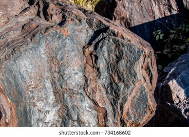 texture of large natural stone layers