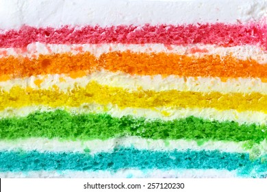 texture layer of Rainbow cake