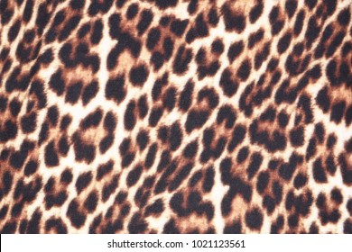 Texture of leopard fabric