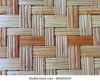 texture is made of wood's weaving.