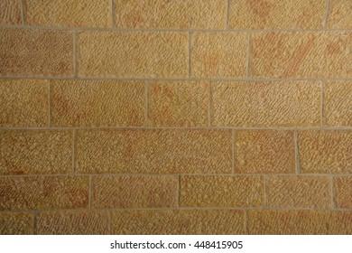 the texture of the masonry