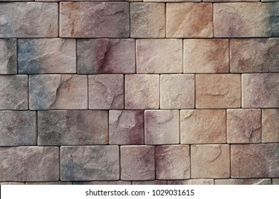 The texture of the masonry of stone blocks