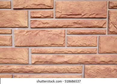 The texture of the masonry stone (siding)